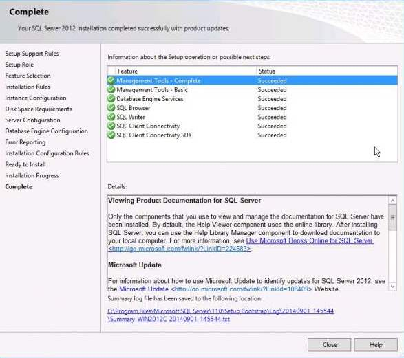 Install a new instance of sql server micro focus file dynamics.