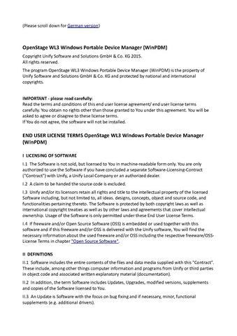File:EULA OpenStage WL3 WinPDM V1R1 pdf - Experts Wiki