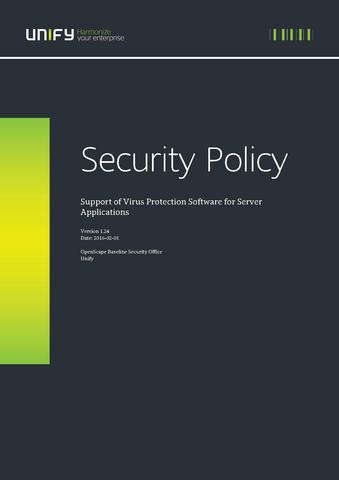File:Security Policy - Support of Virus Protection Software for Server Applications.pdf