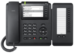 OpenScape Desk Phone CP600E front view with Keymodul.png