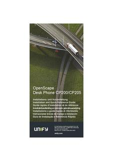 File:OpenScape Desk Phone CP200, Installation and Quick Reference, Installationsanleitung, Ausgabe 1.pdf