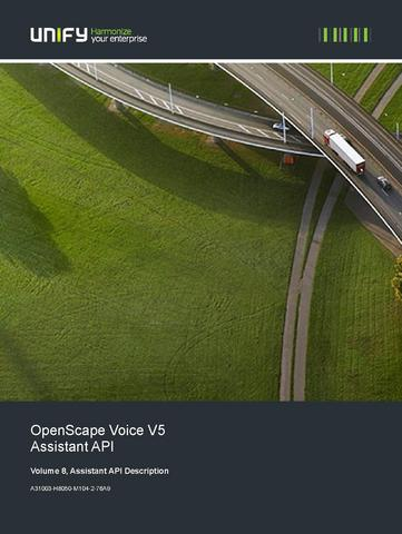 File:OpenScape Voice V5, Assistant API Interface Manual.pdf