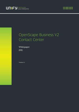 File:Openscape Business Contact Center Whitepaper De.Pdf - Experts