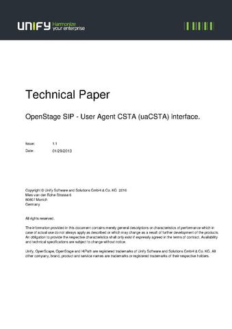 FileWhite Paper Uacsta For Openstage SipPdf  Experts Wiki
