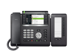 OpenScape Desk Phone CP700X front view with Keymodul.png