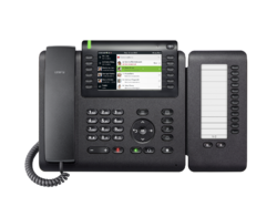 OpenScape Desk Phone CP700 front view with Keymodul.png